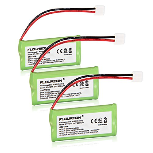 Floureon 3-Packs Replacement Cordless Phone Batteries for V-Tech CS6229, CS6229-2, CS6229-3, CS6229-4, CS6229-5, DS3101, DS3111-2, DS6111, DS6111-2, DS6111-3, DS6111-4, DS6115-2, DS6121, DS6121-2, DS6121-3, DS6121-4, DS6121-5, DS6122-5, DS6201, DS6211, DS6211-2, DS6211-3
