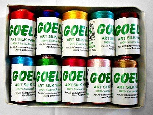 GOELX Goelx Silk Thread For Jewellery Making, Multicolors, For Bangle-Jhumka Making
