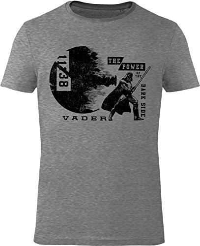 GOZOO Star Wars T-Shirt Herren The Power Of The Dark Side Sehr hochwertiger Druck Grau