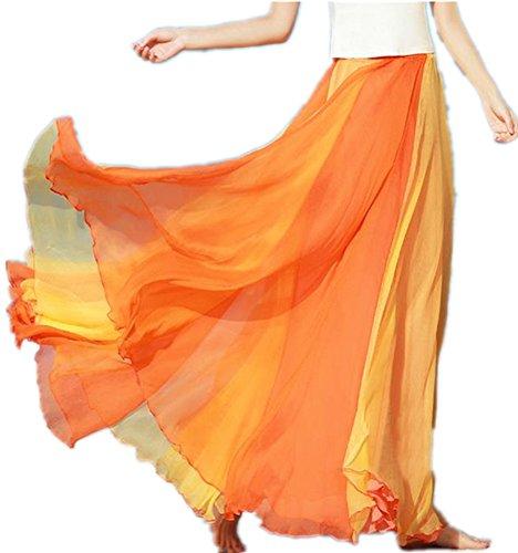 Orange Womens Skirt - 8