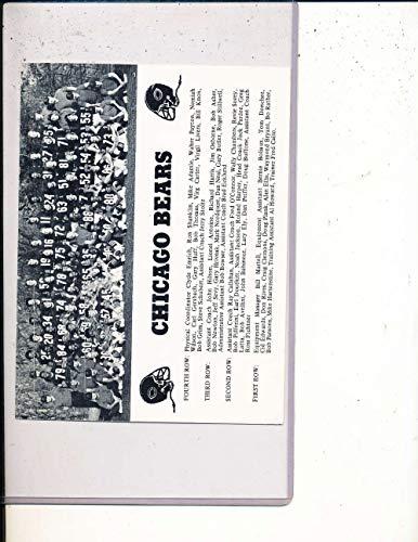 1975 Chicago Bears 1st Year Payton Team Photo post card BBProg1
