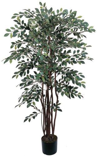 Nearly Natural 5082 Ruscus Silk Tree, 4-Feet, Green