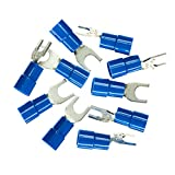 Haupa Insulated Crimp Spade Terminal 16mm² M8Pack of 10Blue BLV260863