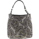 Franco Sarto Womens Cypruss Paisley Reverisible Tote Handbag Green Large