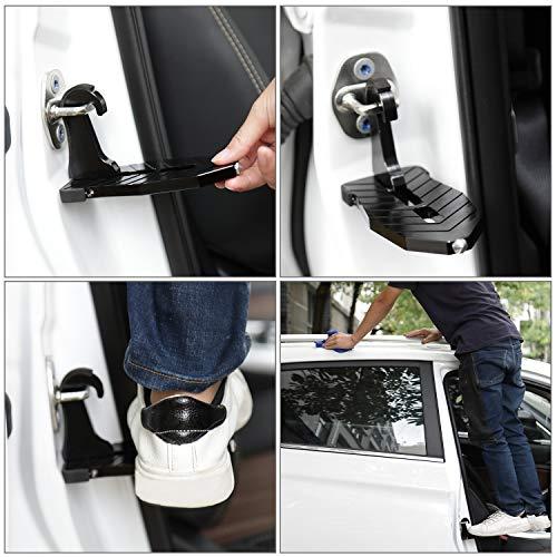 Car Vehicle Rooftop Doorstep Folding Anti-Slip Ladder Foot Pegs Slam Latch