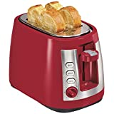 Hamilton Beach 22812 Ensemble Extra-Wide Slot 2-Slice Toaster, Red