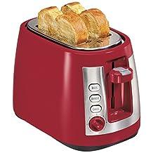 Hamilton Beach 22812 Ensemble Extra-Wide Slot 2-Slice Toaster, Red