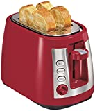 Cheap Hamilton Beach Ensemble Extra-Wide Slot 2-Slice Toaster, Red (22812)