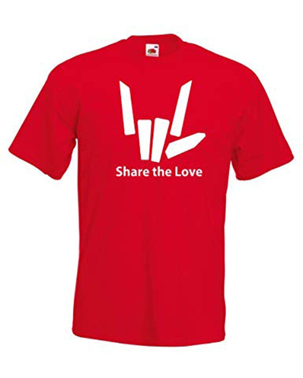 Unisex Boys Girls Share The Love Logo Short Sleeved Cotton Top T-Shirt (3-13 Years)