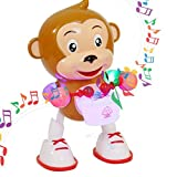 LYTOS Baby Monkey Dancing & Playing Drum with Music Playing Monkey Toy Puppet & Puppet Toy