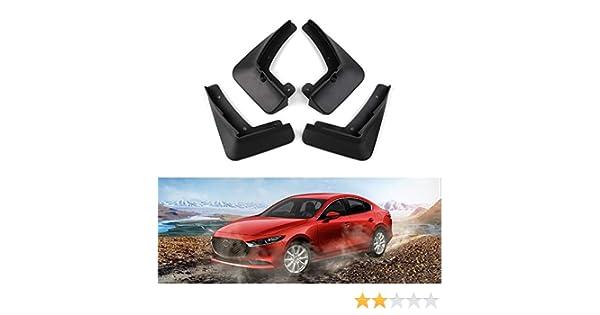 Premis Mazda3 Mudguard Mud Flaps ABS Splash Guards Protector-Custom Fit for for Mazda 3 Sedan 2019 2020 Black