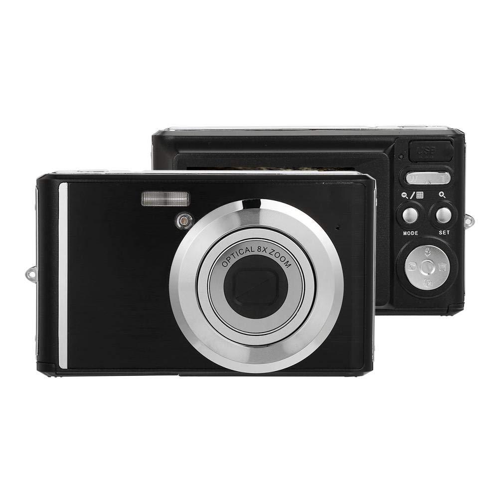 Clearance, UNIhappy 2.4 Inch Digital Camera 8X Zoom Telescopic Lens 20MP w/Macro Lens (Black)