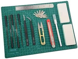 Kit de Herramientas Modelo Gundam de 11 Piezas Juego de construcci/ón de Hobby para reparaci/ón y fijaci/ón de Edificios b/ásicos Herramientas b/ásicas