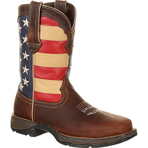 Durango Women's Lady Rebel Western Boot, Brown/Union Flag, 8 Medium US