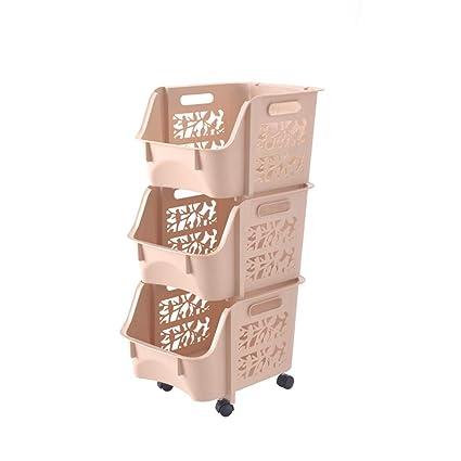 Barley Direct Carro de Almacenamiento de Cocina con Canasta de Almacenamiento y Ruedas portaequipajes para Frutas