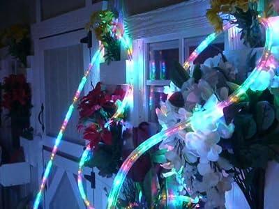 LED ROPE LIGHT 3-WIRE CHASING, RYGB LED ROPE LIGHT KIT FOR 120V, Christmas Lighting, Outdoor Rope Lighting