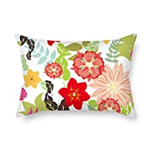 18 X 26 Inches / 45 By 65 Cm Flower Cushion Covers Two Sides Is Fit For Kids Room Bf Teens Kids Girls Relatives Chair