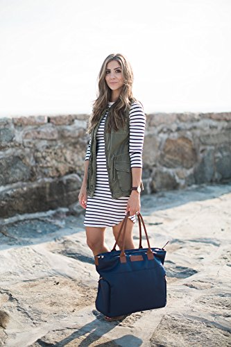 Sarah Wells ''Abby'' Breast Pump Bag, Real Leather Straps (Navy) by Sarah Wells (Image #4)