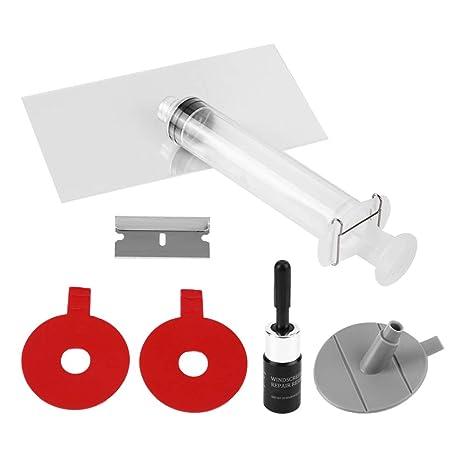 Qiilu Car Glass Repair Tool Aolvo Parabrisas Kit de reparación DIY Parabrisas del Coche Parabrisas Chip