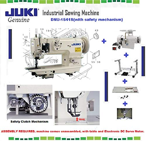 Juki DNU-1541S Industrial Sewing w/Safety Mechanism Walking Foot Needle Feed,servo Motor,Table,lamp. DIY.
