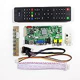 "VSDISPLAY HDMI VGA 2AV USB Audio LCD Monitor Driver Controller Board Work for 14"" 15.6"" LTN140AT02 LTN156AT17 B156XW02 1366x768 40Pin LCD Panel"