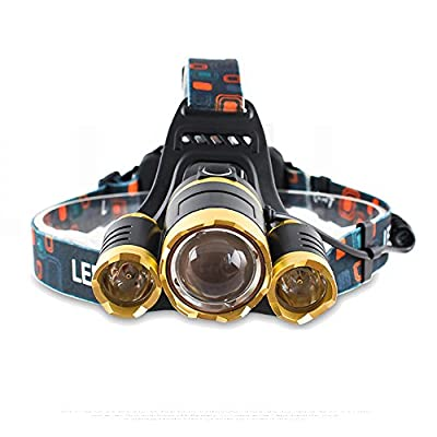 6000 Lume Bright LED Headlamp Flashlight,TOPBRIGHTTRADE Zoomable Rechargeable LED Head Torch Light,Waterproof,Comfortable to Wear Headlight Flashlight for Hard Hat Camping Running Fishing