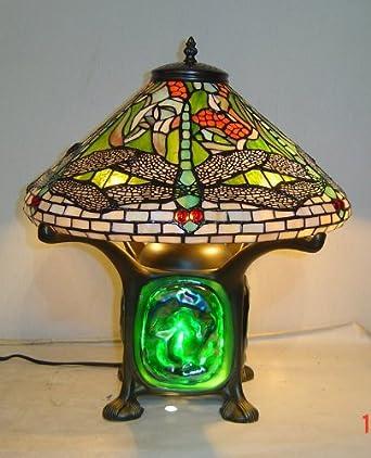Wonderful Tiffany Style Dragonfly Green Lava Lamp