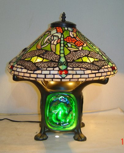 Tiffany Style Dragonfly Green Lava Lamp