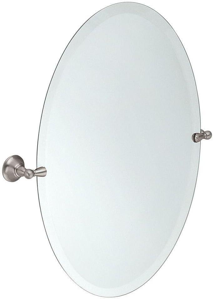 Amazon Com Moen Dn6892bn Sage 26 Inch X 23 Inch Frameless Pivoting Bathroom Tilting Mirror Brushed Nickel Home Improvement