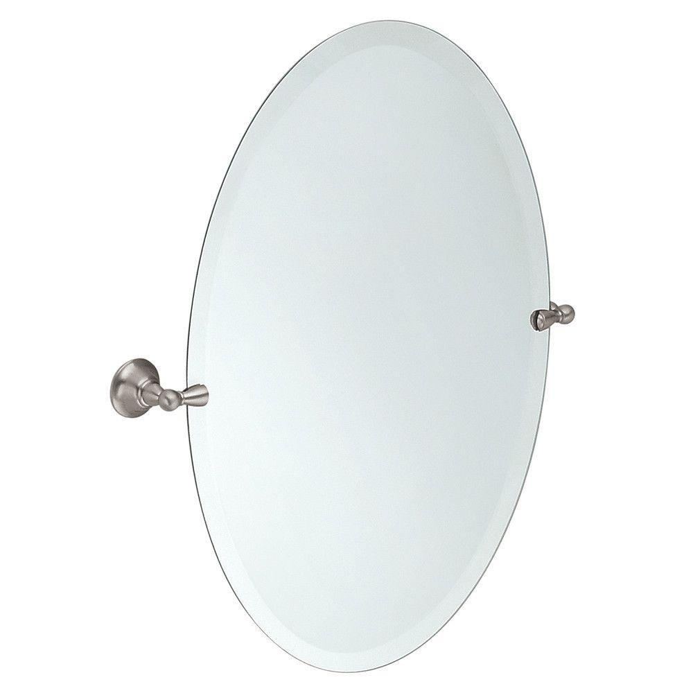 Moen dn6892bn sage bathroom oval tilting mirror brushed nickel