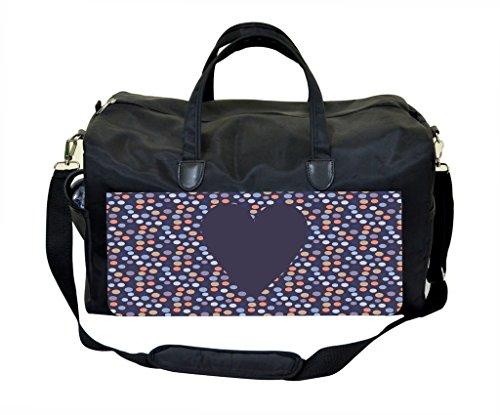 Heart Dots Pattern Diaper Bag