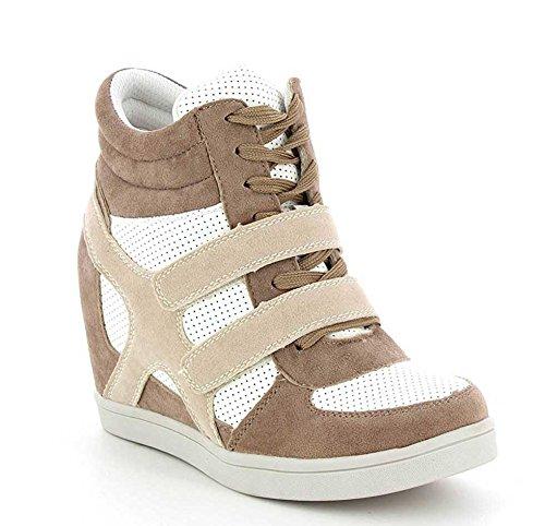 The Fashion Beige A Donna Collo Alto grigio 41 Shoes qAqrS