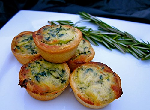 Order Bulk Tasty Quiche Florentine for - Gourmet Frozen Appetizers (Set of 8 Trays)
