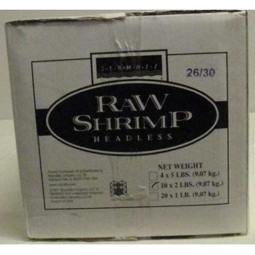 Seamazz Easy Peel White Shrimp, 26/30 Count -- 10 per case. by The Mazzetta Company