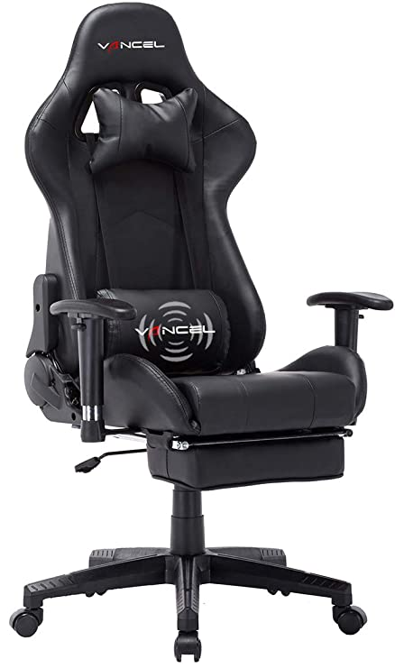 Rocker Swivel Lumbar Chair ChairReclining Executive Support Ergonomic Footrest Computer Style Pc Office Gaming With Racing Massage Adjustable 9DYWH2EI