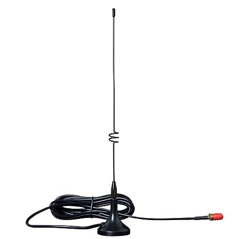 Dual Band SMA-Male High Gain Magnetic Base Sucker Antenna For YAESU Ham Radios