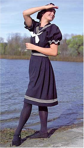 Sailor Dresses, Nautical Theme Dress, WW2 Dresses Victorian Vintage Bathing Costume Pattern                               $19.95 AT vintagedancer.com
