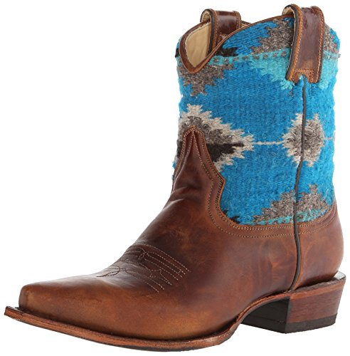 Boot Ankle Brown Serape Stetson Snip Women's Toe wx6XSWqPg