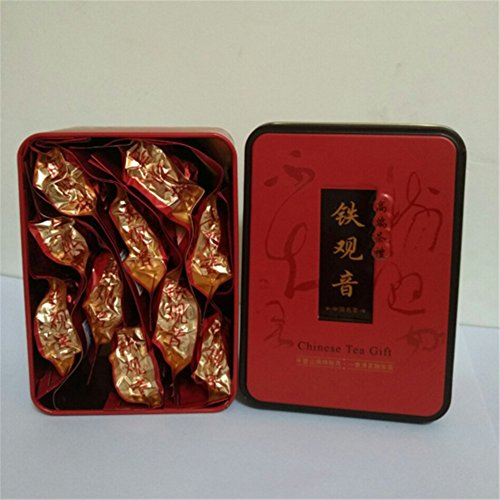 China Anxi Tieguanyin Oolong Tea Tie Guan Yin Luzhou-flavor Tieguanyin Tea Premium with Blue and White Porcelain Gift 10pcs/ Box ()