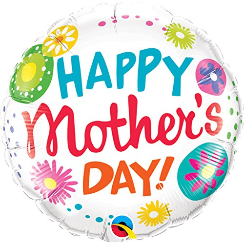 Qualatex Foil Balloon 47388 Mother's Day Floral Circles, 18