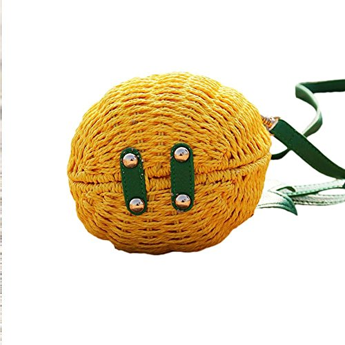 Borsa ananas viaggio estivo borsa di viaggio fresco paglia Shopping Salir colinsa della da uno Spalla borsa del RTRxpg