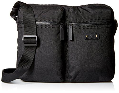 BOSS Orange Men's Saturn Messenger Zip Bag, Black by BOSS Orange