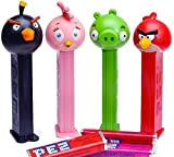 Angry Birds Character Collectible Tin Animated Movie DVD Set Cartoon Pez candy Dispenser 4 birds & Minion Pigs