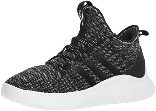 adidas Men's Ultimate Bball Basketball Shoe, Black/White, 11 M US