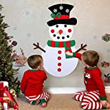 Vovomay Christmas DIY Felt Snowman Kit Ornaments for Kid Xmas Gifts Wall Hanging Decor