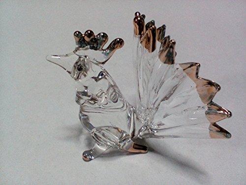 Miniature Hand Blown Art Glass Figurine - bantam ( Copter Shop ) (Murano Suitcase)