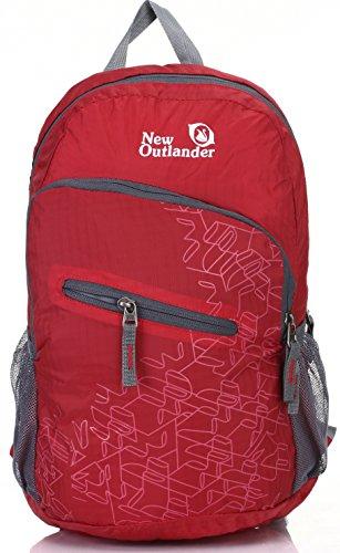 Outlander Packable Handy Lightweight Travel Hiking Backpack Daypack, Red