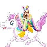 Kids Unisex Cosplay Pajamas Onesie Unicorn Costume (Height (43.4-47.2 Inch))