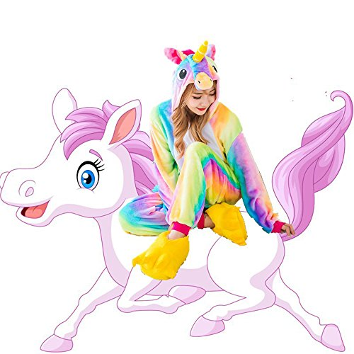 Children's Unicorn Pajamas Animal Costume Kids Kigurumi Cosplay Onesie Halloween Gift (Height (51.2-55.1 (Unicorn Onesie Halloween Costume)