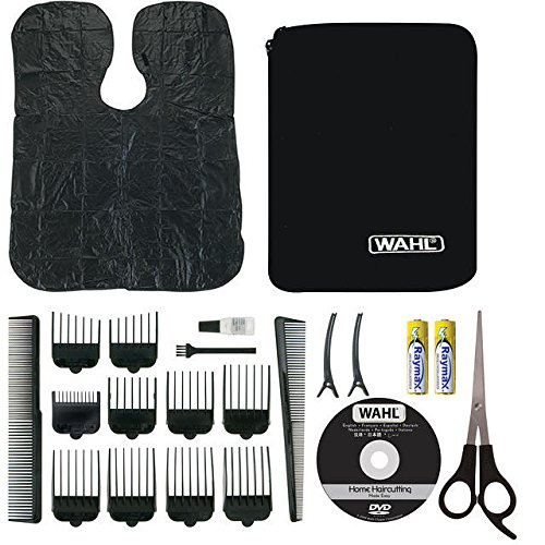 Wahl Chrome Pro Deluxe Mains Hair Clipper, Trimmer & Nasal Trimmer Set Chrome 79524-810 Gift Set by Wahl (Image #2)
